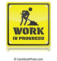 travail, isolé, illustration, unique, vecteur, progrès, icône