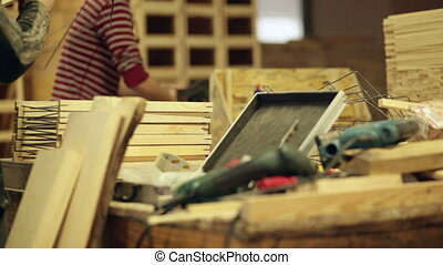 travail, outils, charpentier, puissance