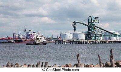 travail, port, mer