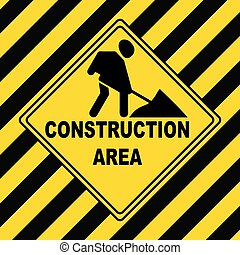 travail, réparation, construction, -, zone