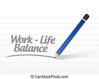 travail, vie, équilibre, message