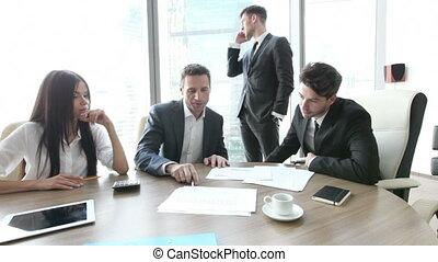 travailler ensemble, affaires gens, réunion