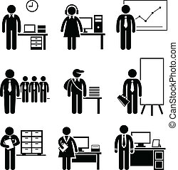 travaux, bureau, carrières, métiers