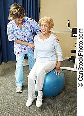 travaux, kinésithérapeute, personne agee