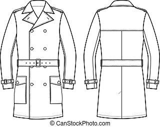 trench-coat, hommes