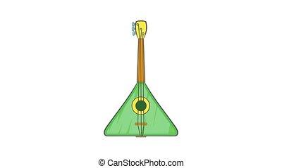 triangle, animation, guitare, icône