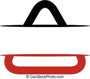 triangle, bouclier, gabarit, vide, emblème, logo