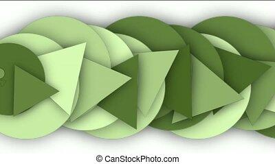 triangle, cercle, écoulement, plus haut
