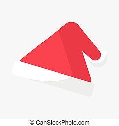 triangle, chapeau, noël, santa