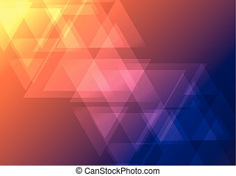 triangle, couleur, oblique, chevauchement, fond foncé, résumé