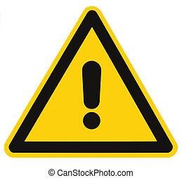 triangle, danger, macro, isolé, signe danger, avertissement, vide