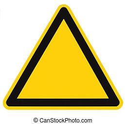 triangle, danger, macro, isolé, signe danger, vide
