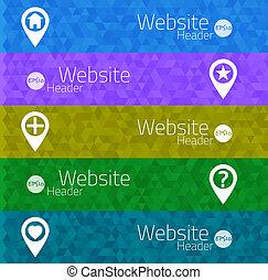triangle, mobile, résumé, illustration, vecteur, utilisateur, sites web, interface, bannières