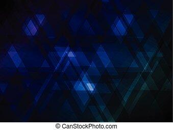 triangle, résumé, chevauchement, bas, dessus, fond