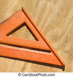 triangle, ruler.