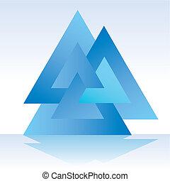 triangle, triple, 3d