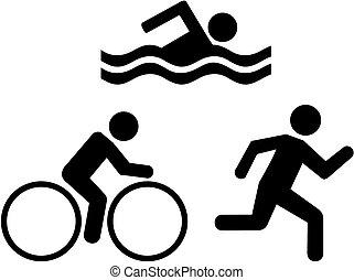 triathlon, icônes