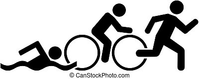 triathlon, pictogramme