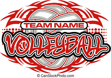tribal, conception, volley-ball