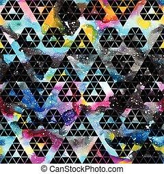 tribal, pattern., seamless, galaxie