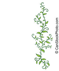 tribal, vigne, feuilles