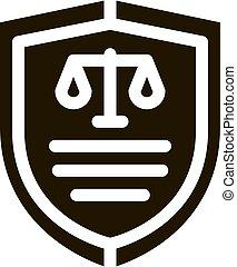 tribunal, droit & loi, jugement, illustration, vecteur, icône