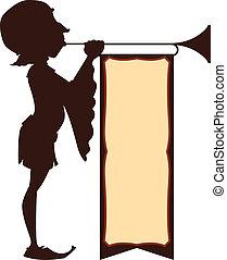 tribunal, illustration, trumpeter