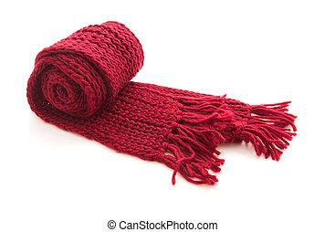 tricoté, laine, écharpe