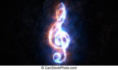 triple, concept, clef., 30., sound.