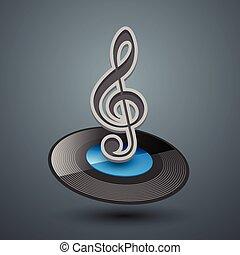triple, icon., clef