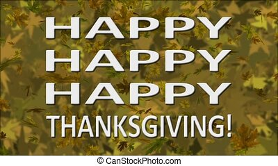 triple, thanksgiving, boucle, heureux