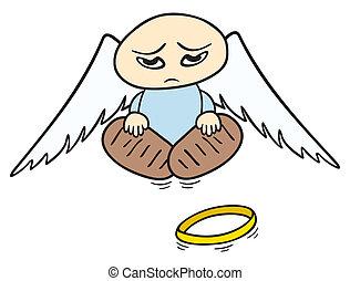 triste, ange