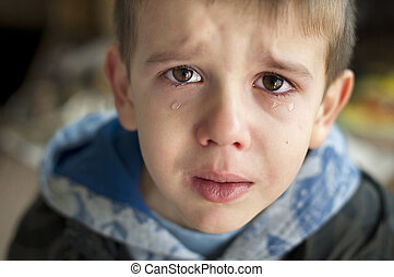 triste, pleurer, enfant