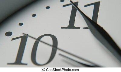 trois, cinq, noir, minutes, figure, mains, blanc, horloge, dix, pointage, dièse