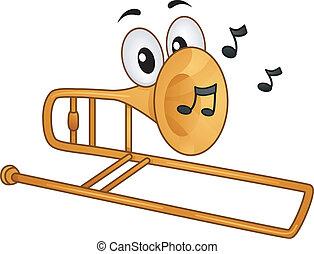 trombone, mascotte