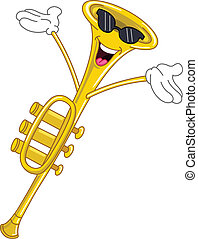 trompette, dessin animé