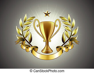 trophée, doré