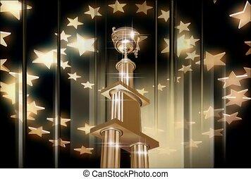 trophée, honneur, étoile
