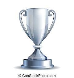 trophée, tasse argentée