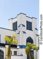 tropiques, carrée, stuc, église