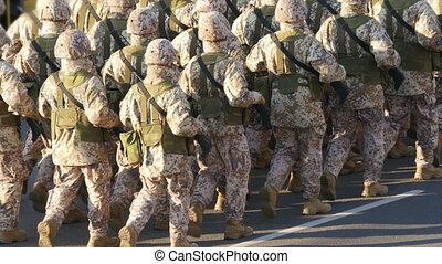 troupes, -, otan, militaire, hd, parade