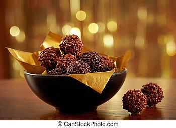 truffes, chocolat