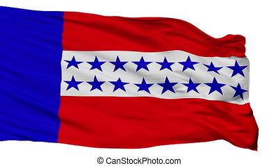 tuamotu, ville, drapeau, isolé, polynésie française, îles