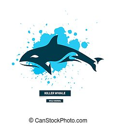 tueur, artistique, baleine