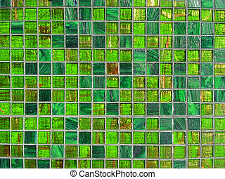 tuiles, vert