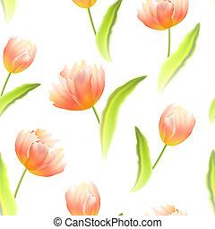 tulips., fond, seamless