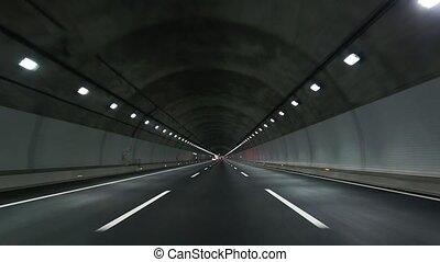 tunnel, conduire