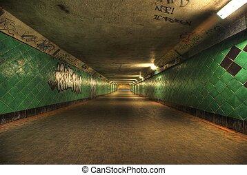 tunnel., long, hdri