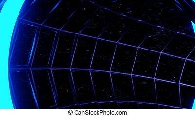tunnel, uhd, simulation, sombre, néon, 4k, boucle, vj, 3d, danger, rendre