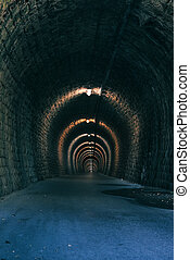 tunnel, vieux, passage